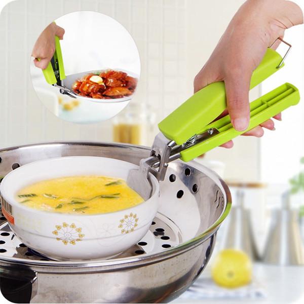 Creativo Nuevo Picnic Pot Anti-hot Clip Holder Pinza Anti-raspado Levantador para plato de plato plato Pot Pot cocina microondas horno