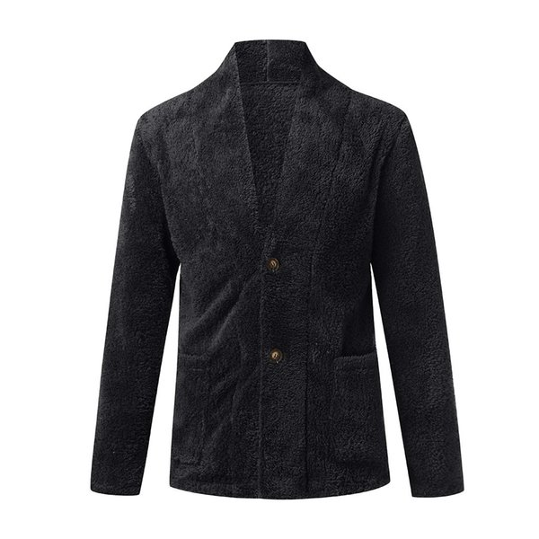 FeiTong Jacket Men Spring Windbreaker Summer Warm Loose Warm Plush Cardigan Long Furry Coat Tops Blouses Streetwear Jacket Men