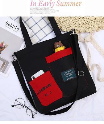 5 adet Yeni hindistan cevizi ağacı flamingo tuval alışveriş çantası çantası pamuk kalın baskı doodle omuz çantası