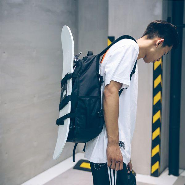 Hip-hop Skateboard Bag School Bag for Teenagers Men Laptop Backpacks Student Bag Women's Travel Bags Multifunction Backpack
