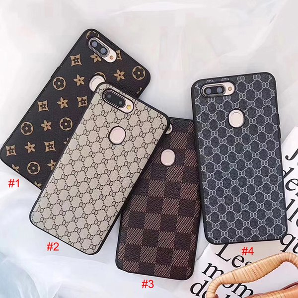 Hot Sale Brand Luxury Vintage Printing Grid PU Leather Hard PC+TPU Phone Case Cover For iPhone XS Max XR X 8 7 6 Plus Samsung Galaxy S9 S8