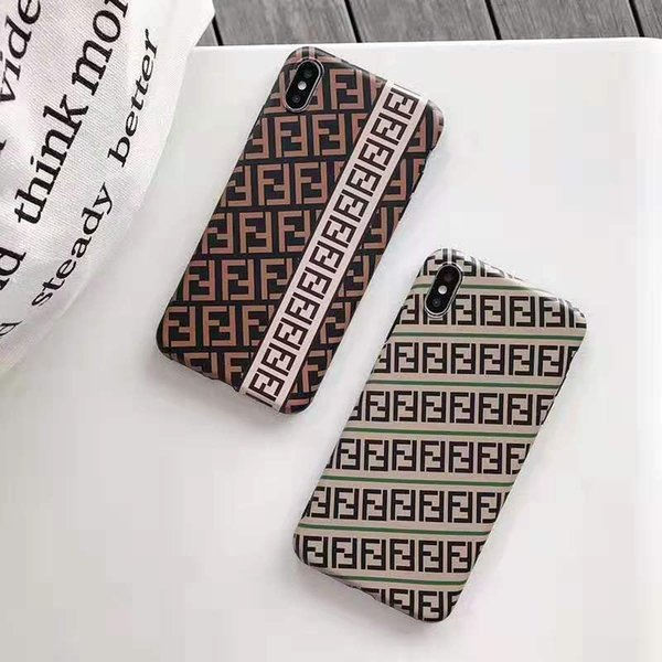Wholesale Phone Case Designer for Iphone 6/6S 6P/6SP 7/8 7p/8p X/XS Xr Xs Max Brand Case with Luxury Letter Double F TPU Protective Case