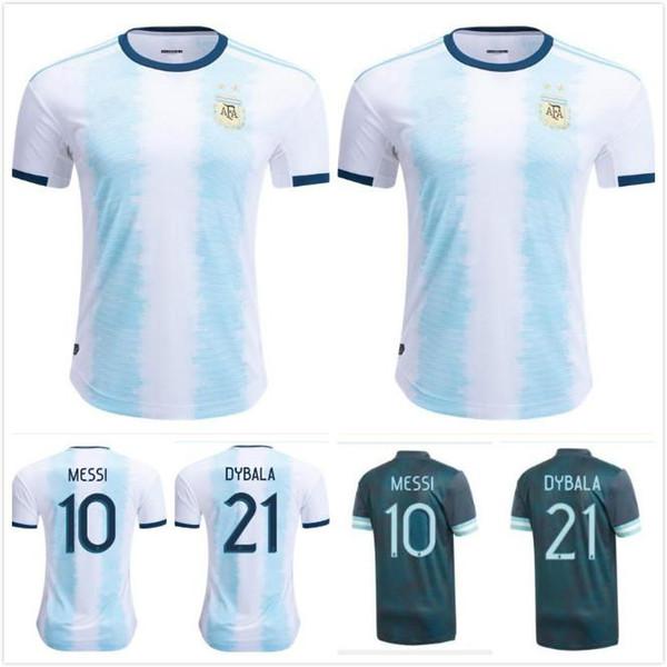 Argentina di calcio via pullover nero MESSI 2019 Copa America maglia argentina di calcio Dybala DI MARIA HUGUAIN BIGLIA PASTORE Aguero maglia