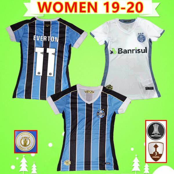 Women everton luan 2019 2020 gremio pauli ta occer jer ey brazil 19 20 girl football hirt home away bra il marinho pepe ladie uniform, Black;yellow