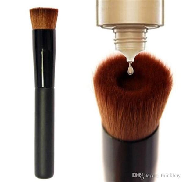 High quality Large Flat Professional Perfecting Face Brush Multipurpose Liquid Foundation Brush Premium Premium Face Makeup Brush