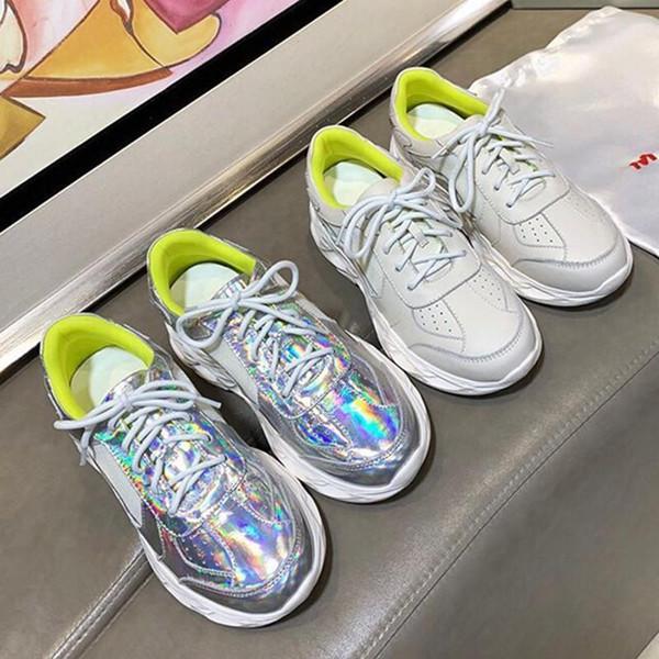 Sıcak 02 2019 Orijinal Rahat Ayakkabılar Inek Derisi İç Ve Dış Nefes Eğlence Eva Sole Tasarımcı Iki renkli Boyutu 35-39