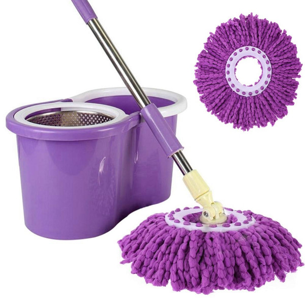 Replacement 360 Rotating Easy Magic Microfiber Spinning Floor Mop Head Kitchen Bathroom Clean Tool Dropshipping C19041701