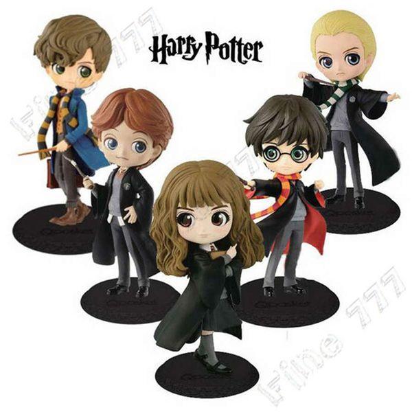 2019 Qposket Cute Big Eyes Harry Potter Ron Weasley Hermione Granger Draco Malfoy Newt Scamander Vinyl Figure Model Toys 15cm From Fine777 9 29
