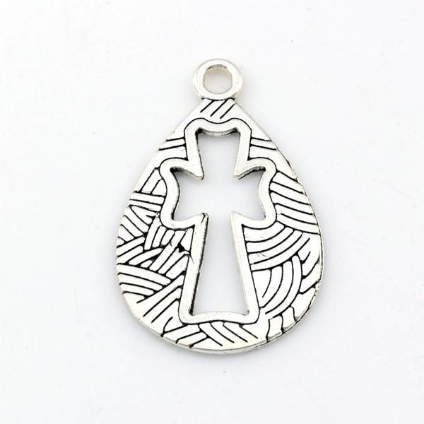 Creux Ange Charmes Pendentifs alliage Bijoux DIY Fit Bracelets Collier Boucles D'oreilles 100Pcs / lot Argent Antique 19.5x30.5mm A-487