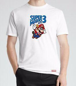 MENS Tişört Tee-Süper Mario Bros 3 Komik Oyun Komik Hediye