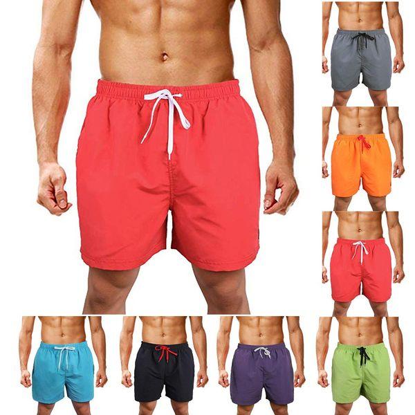 Herren New Pocket Bergsteigen Shorts Hosen Casual Solid Color Buchstaben gestickt gerade Slim Fit Hosen Classic Shorts