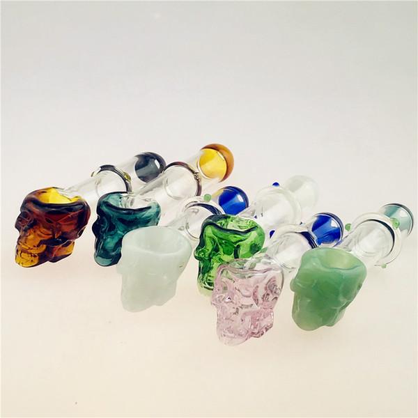 QBsomk articles similaires crâne Pyrex huile brûleur Pipes cuillère en verre Tubes 4inch verre Pipes tabac sec fumeurs Herb en verre Bong pipe Livraison gratuite