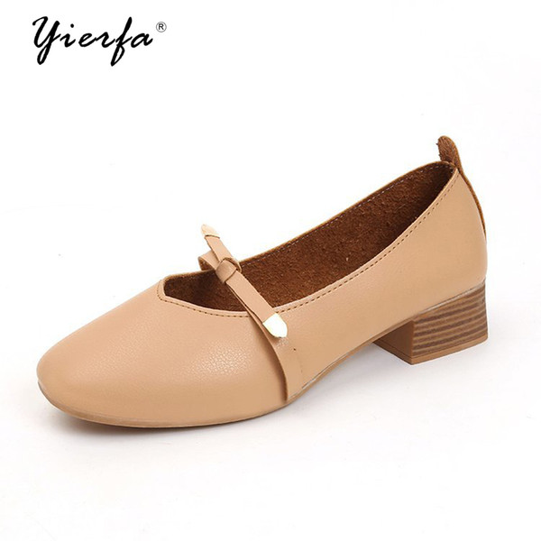2019 Dress Fall 2018 new bow British wind single lady shoes edition small leather shoes for women's shoes
