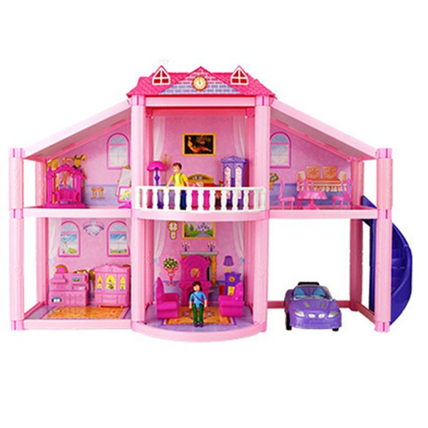New 3d Diy Family Doll House Dolls Accessories Toy With Miniature