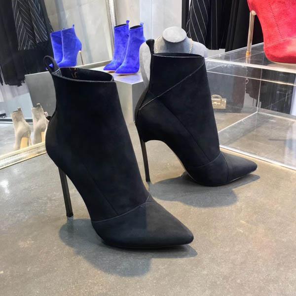 Nuove `ArrivalTop qualità di lusso Lettera Nastro Fibbia in metallo tacco basso Stivali genuini della pelle bovina moda donna Pearl Boots