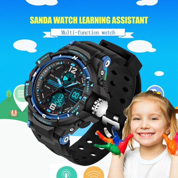 Factory Price Fashion SANDA Brand Children Sports Watches LED Digital Quartz Military Watch Boy Girl Student Multifunctional Wristwatches