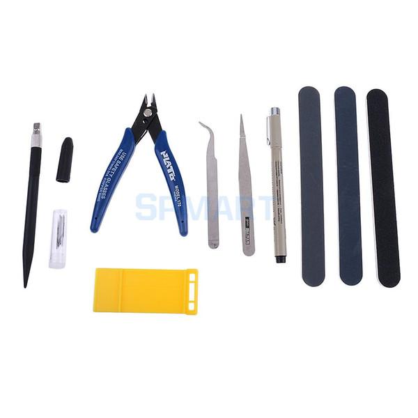 Set di strumenti per la costruzione a buon mercato Kit di strumenti per la creazione di modelli 7 pezzi per la costruzione di modelli di auto Creazione di pinzette Pinza tagliata Strumento professionale lucido per