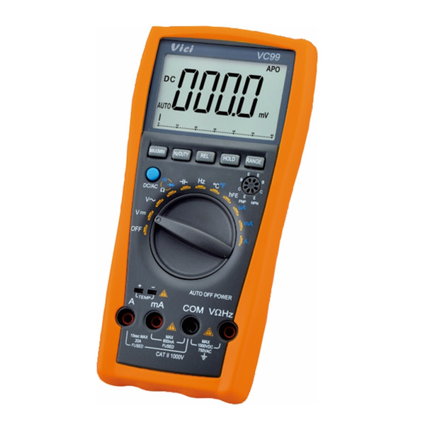 VICI VC99 3 6/7 Auto Range Digital Multimeter DC AC Voltage Current Resistance Capacitance Meter Alligator Probe 100% Original