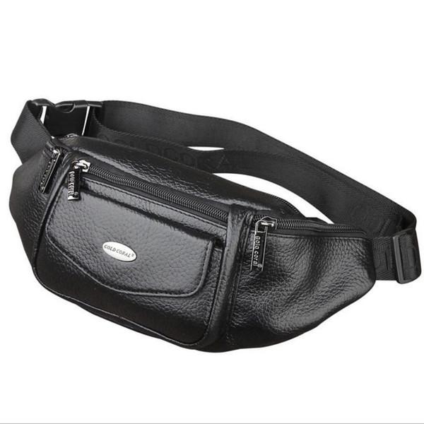 New Men Genuine Leather Belt Bum Fanny Pack Waist Bag Vintage Travel Shoulder Messenger Hip Sling Chest Pack
