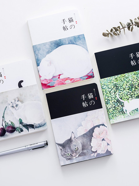 Special Offer Japanese Cat Notepad A5 Blank Paper Notebook 1PCS