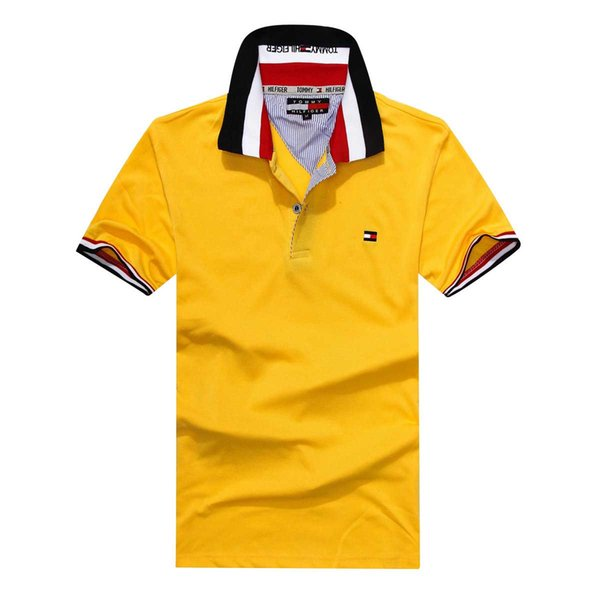 2019 hombres a estrenar camisas de polo de moda clásico de manga corta camisa de polo de la serpiente de abeja bordado floral para hombre polos camisa 3XL