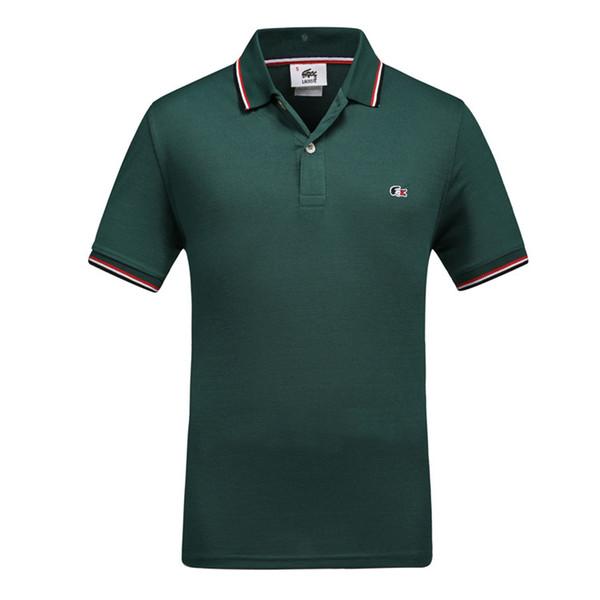 2018 Summer Man Pure Cotton POLO Tshirt Lapel Short Sleeve T T-shirt 0228