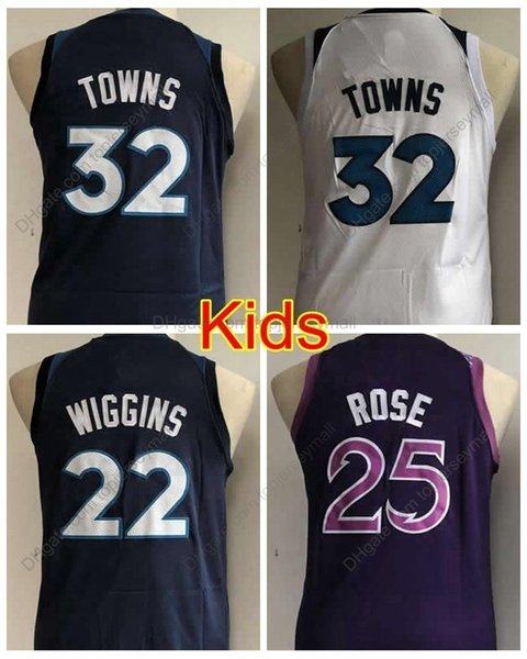 promo code cf2fb 2b345 2019 2019 Boys #32 Youth Karl Anthony Towns Jersey Kids Andrew Wiggins  Edition Youth Basketball Jersey City Derrick Rose Stitched Shirts S XL From  ...