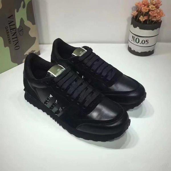 [Caixa Original] Moda Stud Camuflagem Tênis Calçados Das Mulheres Dos Homens de Luxo Designer Rockrunner Formadores Sapatos Casuais sports shoes36-46
