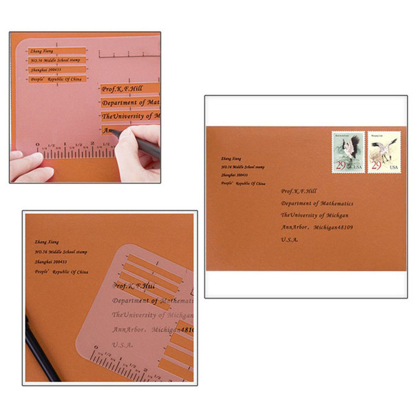 Letter Addressing Stencil.Diary Templates Rulers Handwriting Practice Envelope Invitation Addressing Guide Notebook Multi Use Letter Stencil Set Romantic Birthday Cards