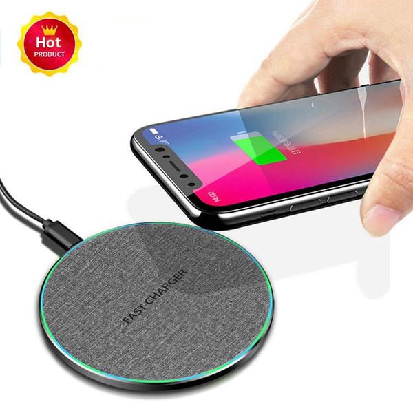 2020 Nova 10W Quick Charge USB iPhone Carregador Para C Qi sem fio 11 Pro Max XS XR X 8 Samsung S10 11 Xiaomi Mi 9 10W carregamento rápido Pad