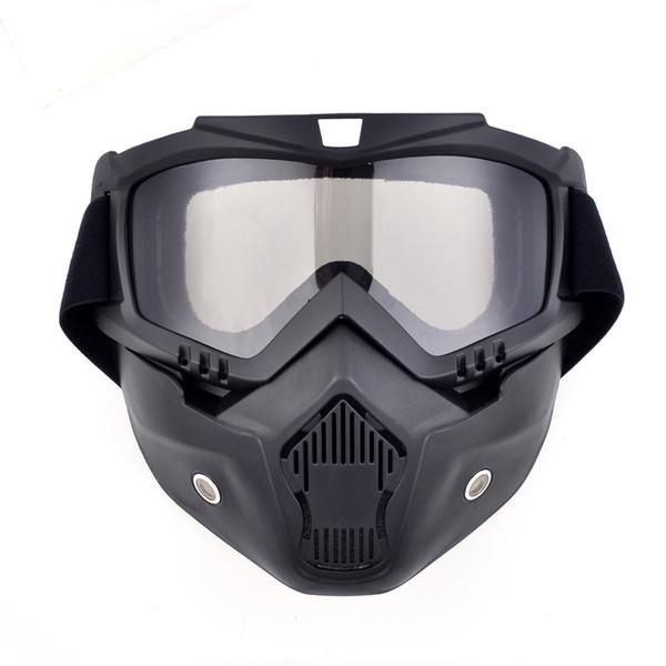 f65ec1faf5 Nuevo casco de la motocicleta máscara de polvo máscara con gafas  desmontables Filtro de la boca