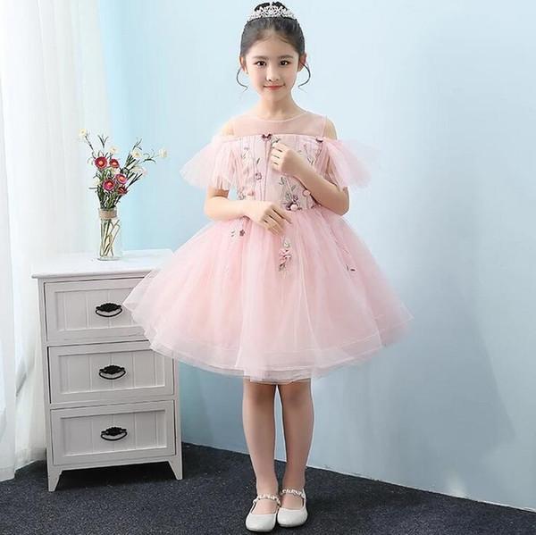 Compre 2019 Vestido De Fiesta Moderno Vestidos De Niña De Flores Sin Mangas Cremallera Trasera Bebé Fiesta De Cumpleaños De Niña Vestidos De Navidad A