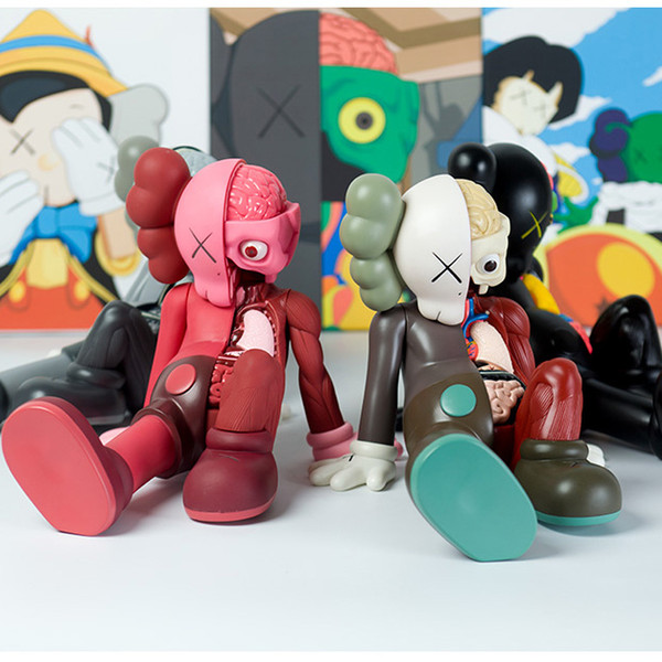 Modelo de moda para niños Trendy Anatomical Plastics Bear KAWS Modelo Toys Luxury Hand-madeToy para niños niñas adolescentes 2019 Explosión en venta