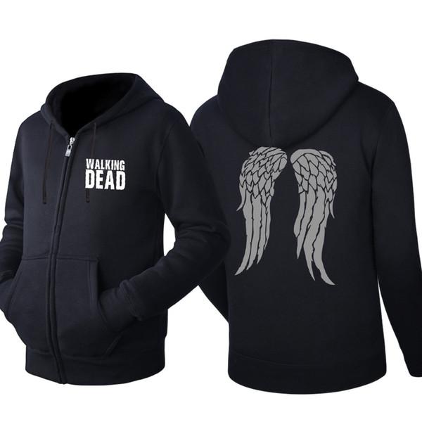 Walking dead Hooded Cardigan for Men Zipper Comfy Spring Autumn Hoodies Long Sleeve Sweatshirts Male Jackets Tracksuit Casual Wear
