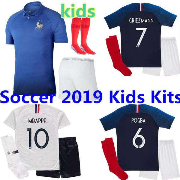 1919 2019 FFF France Edizione speciale Centenario HENRY maglia da calcio 2 stelle mbappe GIROUD GRIEZMANN kante 18 19 Franc ZIDANE jersey Kids Kit