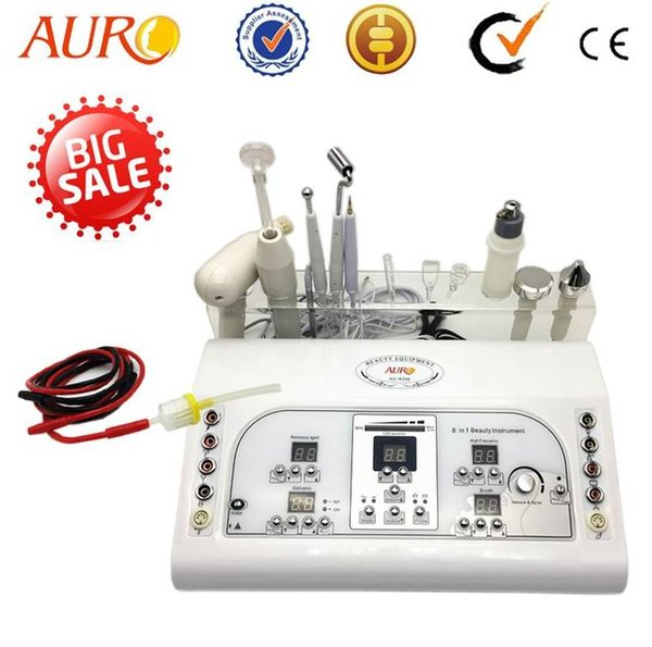 top popular Christmas promotion 7 In 1 Multi-functional Galvanic and Ultrasonic Facial Massager Beauty Machine equipment with CE AU-8208 2020
