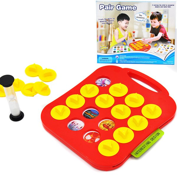 [TOP] Children Memory Training Matching Pair Game Early Education Interactive Toy family Parent Child Link Up Chess Puzzle Toy