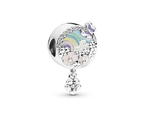 Fit Pandora Charm Bilezik Avrupa Gümüş Boncuk Charms Kelebek Çiçek Boncuk Kadınlar Için 925 DIY Yılan Zinciri Bileklik Kolye Takı