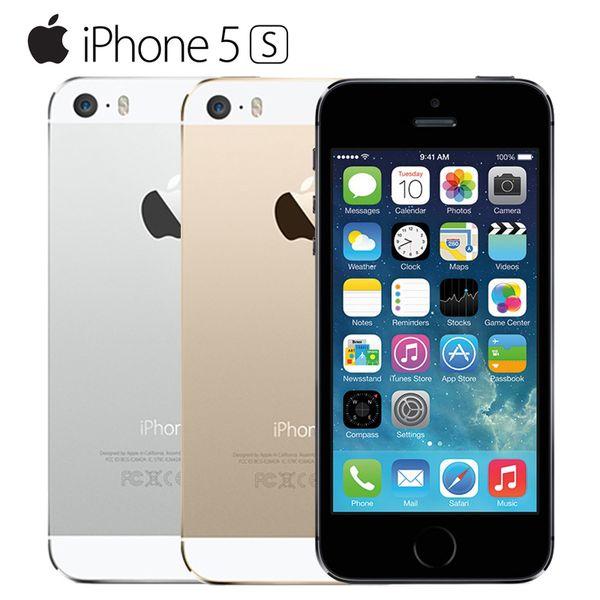 Originale sbloccato Apple iPhone 5S 16GB / 32GB ROM IOS Touch ID Impronte digitali 4.0 '' A7 IPS 4G mobile iphone5s A1533 / A1457 Usato