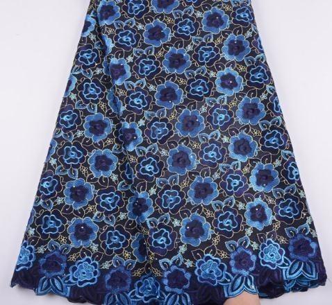Tecido Africano Swiss Voile Laces Tecidos de Algodão de Alta Qualidade Tecido de Renda Francês Para Homens Mulheres Cada Vestido A1344