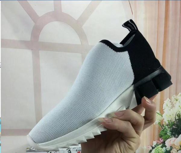 2019 дизайнер мужчины женщины Speed Trainer мода обувь черный белый синий блеск плоские мужские кроссовки Runner кроссовки ml1901601