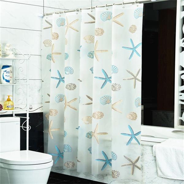 Starfish Pattern Tende da doccia Stampa 3D Impermeabile Muffew Proof Eco Friendly Set da bagno Tenda da doccia Vendita calda 14 8yj5 E1