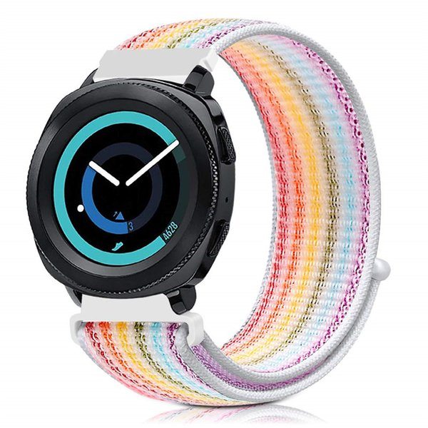 Cinturino per Galaxy Watch 42mm Galaxy Watch Active 40mm Gear S2 Sport 20mm Nylon Sport Loop Cinturino per cinturino per Amazfit Bip