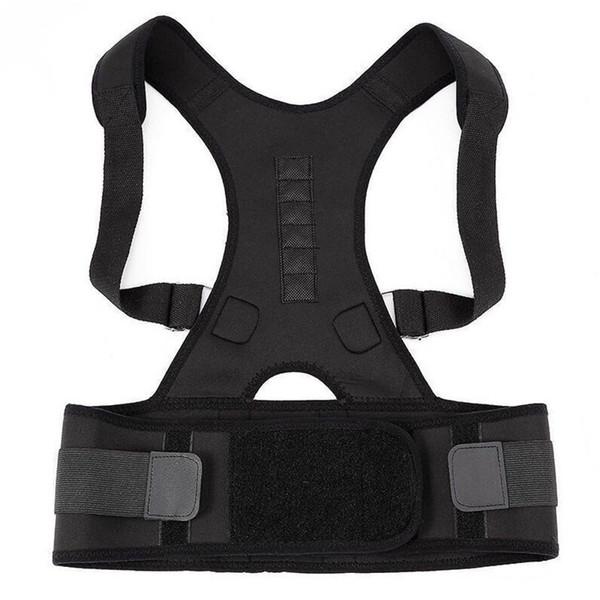 Magnetic Therapy Back Corset Shoulder Lumbar Posture Corrector Adult Spine Back Support Posture Correction Belt 10 Magnets #347122