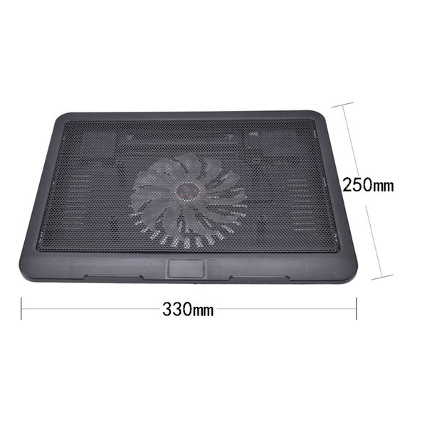 """Super Quiet Laptop Cooler for 14"""" Laptop Notebook Computer Peripherals Cooling Fan Cooling Pad Base Big Fan USB Stand"""