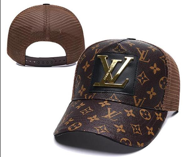Tasarımcı Erkek Beyzbol Kapaklar Yeni lüks Şapkalar marka Altın deri Işlemeli kemik Erkek Kadın casquette Güneş baba Şapka gorras Spor snapback Kap