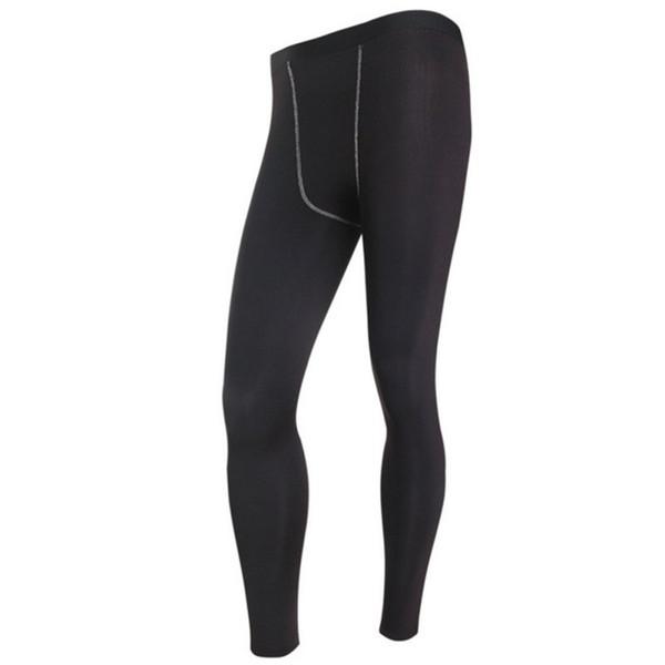 Men Long Thermal Base Layer Tights Warm Pants Plush Underwear Trousers Elastic Waist Thin Male Leggings