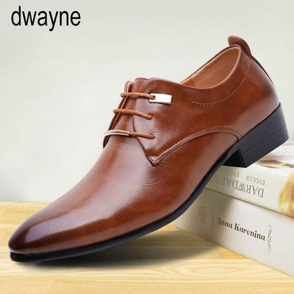 Мужская мода формальные бизнес обувь высокого качества указал платье обувь большой размер оксфорды кожа мужчины tyh789