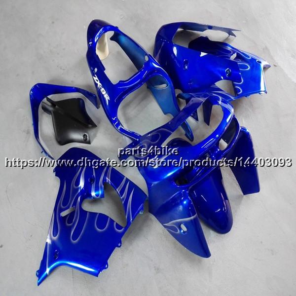 5Gifts+Custom blue bodywork motorcycle Fairing For Kawasaki ZX9R 1998 1999 ZX-9R 98-99 ZX 9R ABS plastic kit