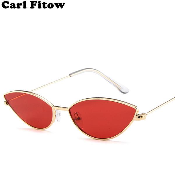 Cute Sexy Ladies Cat Eye Sunglasses Women Metal Frame 2019 Fashion Vintage Gradient Sun Glasses For Female UV400